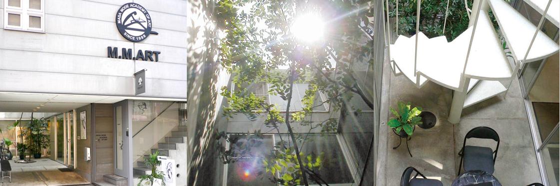 マサモードアカデミーオブアートの外観と中庭