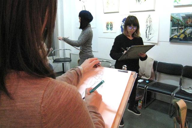 大阪のイラスト学校【マサモードアカデミーオブアート】でデッサン、クロッキーによる基礎を創ろう